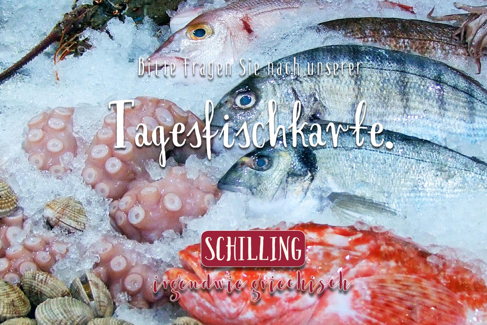 Schilling Tagesfischkarte