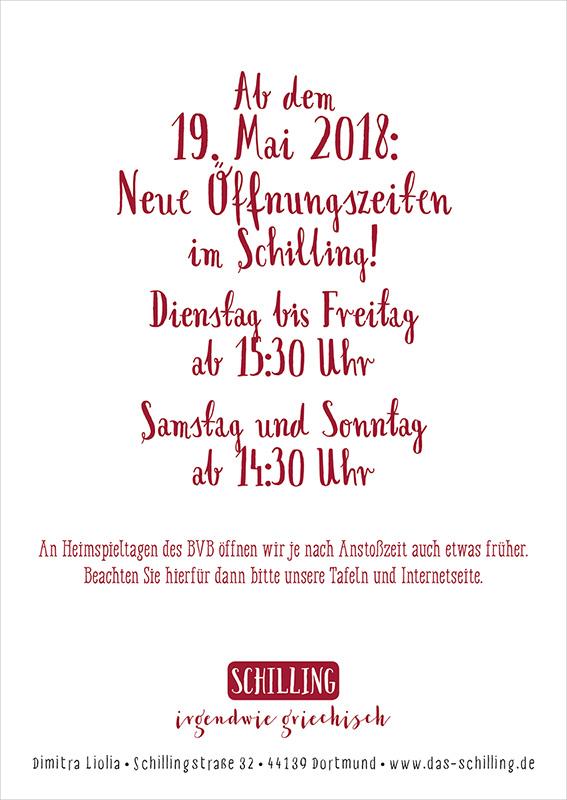 Schilling: Neue Öffnungszeiten