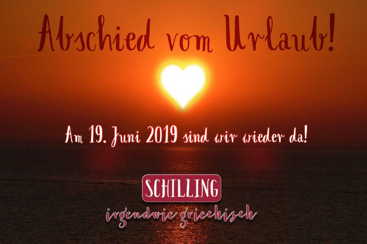 Schilling - Abschied vom Urlaub