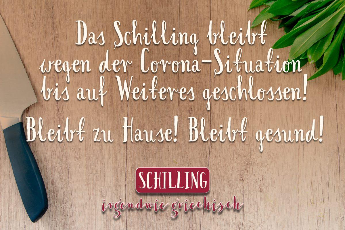 Schilling: Bleibt zu hHause! Bleibt gesund!
